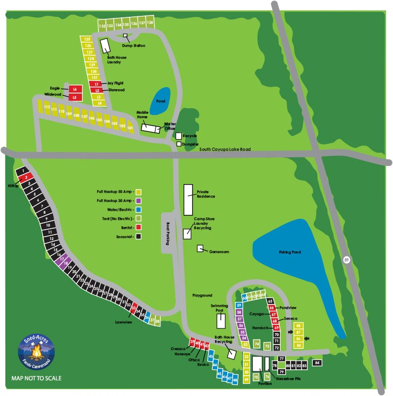 Sned-Acres Family Campgrounds Map